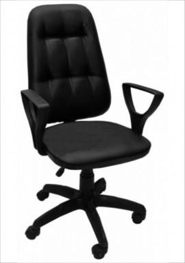 """Кресло компьютерное  """"Премьер 3"""" (Н) кожзам  Чёрный,  пластик чёрный"""
