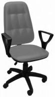 """Кресло компьютерное """"Премьер 3"""" (Н) материал Серый, пластик чёрный"""