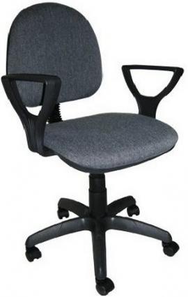"""Кресло компьютерное  """"Фаворит 1""""  материал Серый, пластик чёрный"""