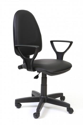 """Кресло компьютерное  """"Престиж Polo"""" кожзам Чёрный, пластик чёрный"""